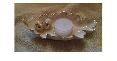 NIB Lenox Oak Leaf Votive Candle Holder