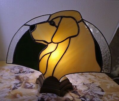 Stained Glass Dog Fan Lamp - Golden Retriever