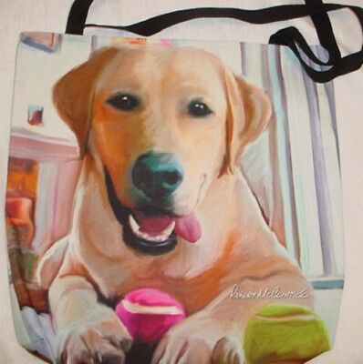 Yellow Lab Large Canvas Tote Bag