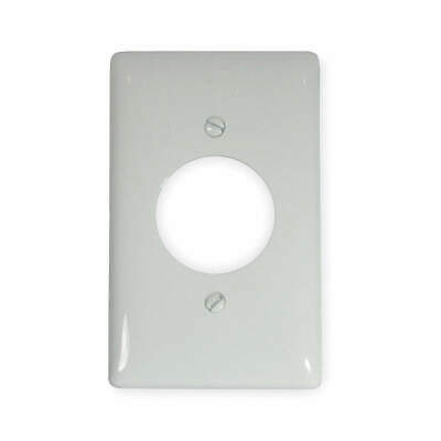 HUBBELL WIRING DEVICE- Nylon Single Receptacle Plate,1 Gang,White, NP720W, White