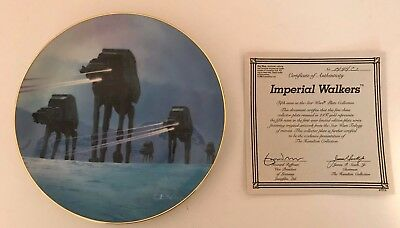 Star Wars Hamilton Collection Plate: Imperial Walkers
