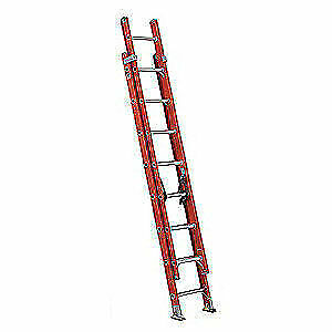 LOUISVILLE Extension Ladder,Fiberglass,16 ft.,IA, FE3216