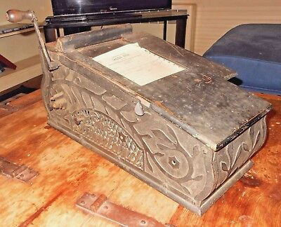 Antique Vintage STANDARD Receipt Register Invoice Printer Machine Steampunk Old