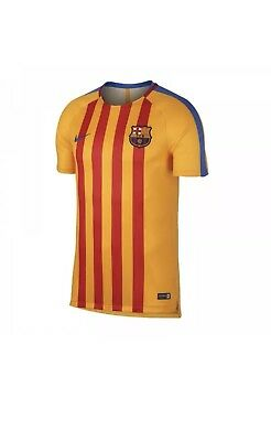 9c5bf2e4f04 NWT 2017 18 Nike FC Barcelona Dry Squad Gold Training Top Jersey 854249-720