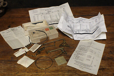"""Vintage 1950 A.J. Fisher Fittings for Racing Yacht 24"""" or 36"""" with Diagram"""