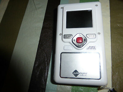Flip Video  camera pure digital F130w 512 MB Camcorder -  White Used