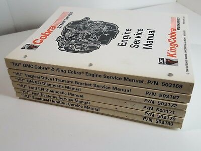 OMC King Cobra Stern Drive Engine HU 1994 Service Manuals