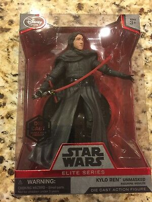 NIB Disney Store Exclusive Kylo Ren Unmasked Elite Series Die Cast Action Figure