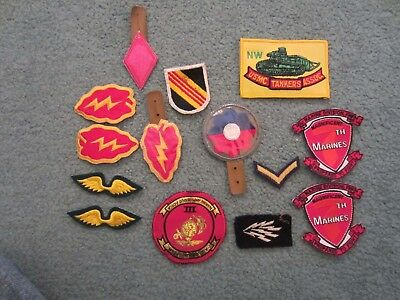 Vintage Us Military Patches Lot Of 14 Old Military Patches Ww2