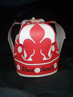 three RED CROWN PUNCH OUT PAPER HATS STANDARD OIL NOS ROUTE 20 72 47