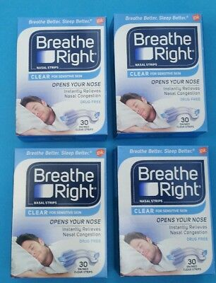 120 Breathe Right Nose Strips Large Tan Original 4 Boxes Snoring Congestion NEW
