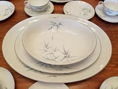 Sone China Dinner Set, 79 Pieces, 1964 Bamboo Style, In Excellent Condition.