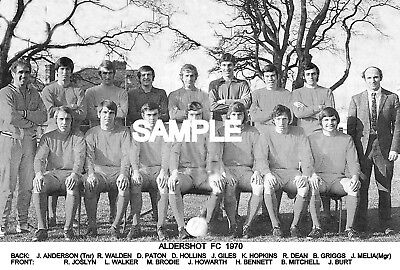 Aldershot FC 1970 Team Photo