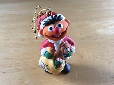 Jim Henson Christmas Tree Ornament - 1995 Ernie W/ Box Very Cute FREE SHIPPING