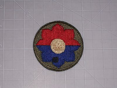 PATCH WW2 ARMY 9th INFANTRY DIVISION CUTEDGE SSI PERIOD ORIGINAL *HTF*