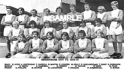 Birmingham City FC 1972 Team Photo