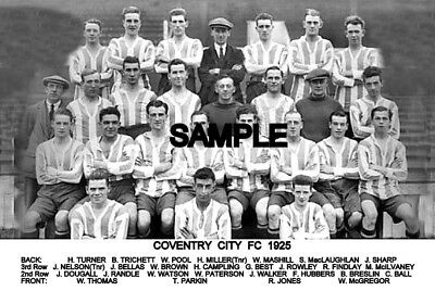 Coventry City FC 1925 Team Photo