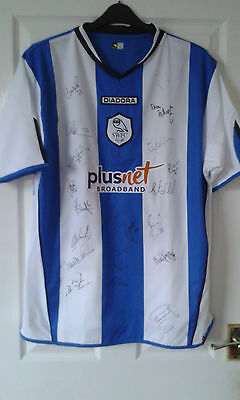 Mens Football Shirt - Sheffield Wednesday - HOME 2005-06 22 TEAM SIGNED - Size L