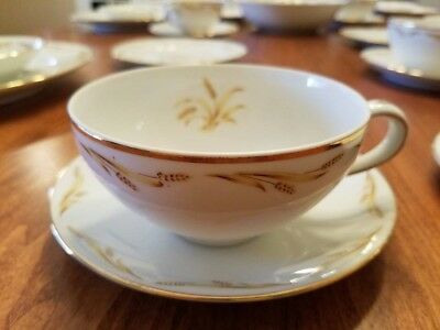 Abalone China Set, Golden Grain 526, 31 Pieces, In Excellent Condition.