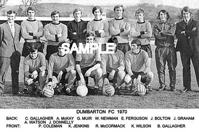Dumbarton FC 1970 Team Photo
