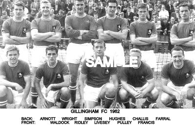 Gillingham FC 1962 Team Photo