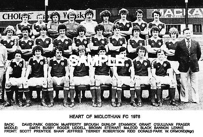 Heart of Midlothian FC 1978 Team Photo
