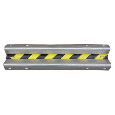 GRAINGER APPROVED Steel Impact Resistant Guard Rail, 21XL91, Silver