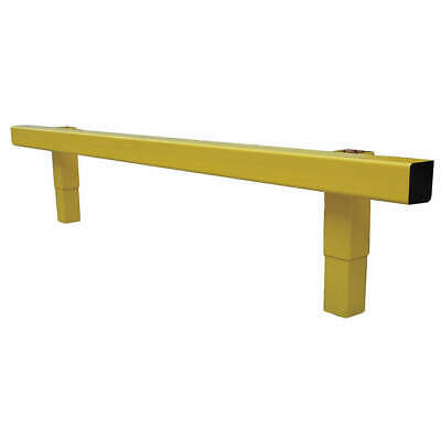 GRAINGER APPROVED Steel Impact Resistant Guard Rail, 21XL85, Safety Yellow