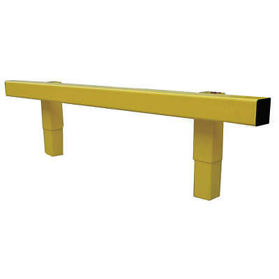 GRAINGER APPROVED Steel Impact Resistant Guard Rail, 21XL84, Safety Yellow