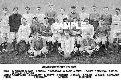 Manchester City FC 1905 Team Photo