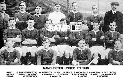 Manchester Utd FC 1913 Team Photo