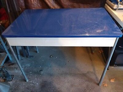 Retro Kitchen Table with Blue Formica Top