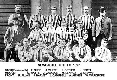 Newcastle Utd FC 1897 Team Photo