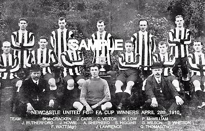 Newcastle Utd FC 1910 Cup Team Photo