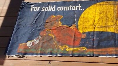 Mid-20th-Century Denim Levi's Advertising Banner