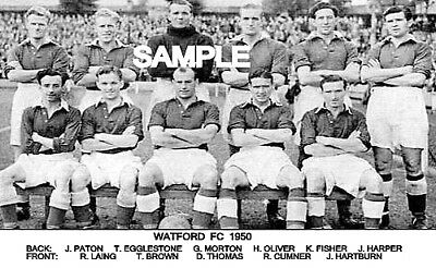 Watford FC 1950  Team Photo