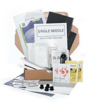 Single Needle - Hand Poke DOUBLE Tattoo DIY Kit (Optional Extra Ink) *UK Seller*