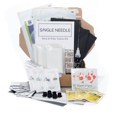 Single Needle - Hand Poke TRIPLE Tattoo Kit