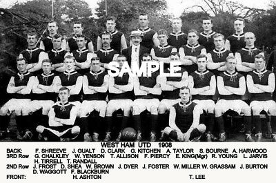West Ham Utd FC 1908  Team Photo