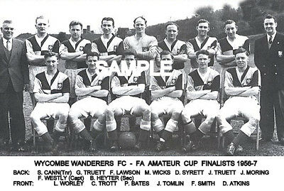 Wycombe Wanderers FC 1956-7 Cup  Team Photo