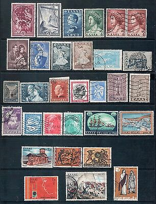 GREECE - Mixed lot of 31 Stamps, most Good Used, LH