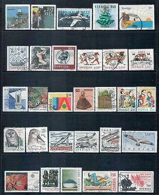 SWEDEN - Mixed lot of 29 Stamps, most Good - Fine Used, LH