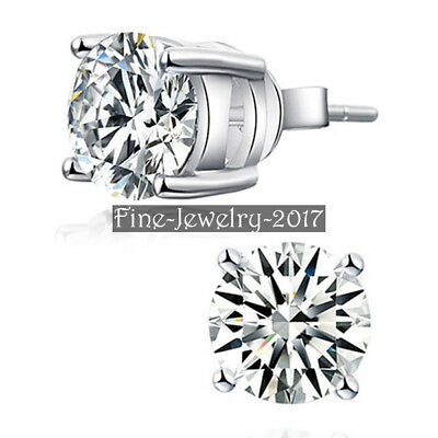 2.00Ct Synthetic Grown Diamonds Stud Earrings Silver 925 White Gold Plated HELEN