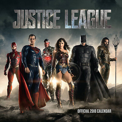 Justice League Official 2018 Square Wall Calendar - BRAND NEW  (SKU 231)
