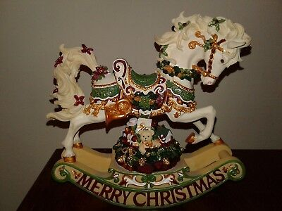 "San Francisco Music Box Co Rhapsody Rocking Horse Figurine Christmas 8 1/2"" High"