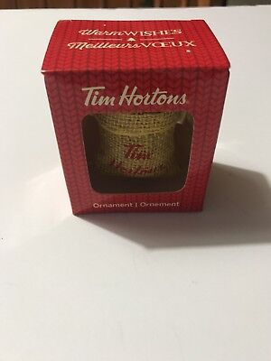 Tim Hortons Canada 2016 Christmas Tree Ornament Coffee Beans Sack Bag New in Box