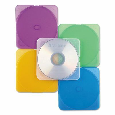 Thin & Light 10-Pack CD / DVD Storage Cases 5 Assorted Colors DVD Case CD Cover