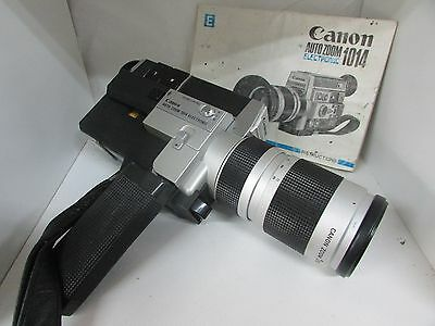 Canon Auto Zoom Electronic 1014 Movie Camera C-8 Lens Film With Booklet