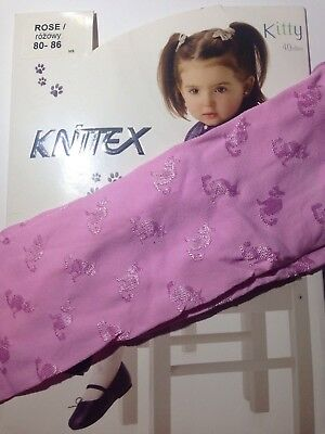Knittex -Girls Patterned Tights -40 Den-Size-1-2 Years