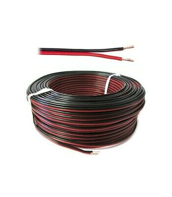 Wire multipolar Flat cable section 2x0,35 mmq Red Black